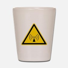 RF Warning Sign Shot Glass