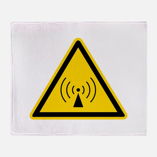 RF Warning Sign Throw Blanket