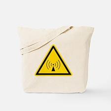 RF Warning Sign Tote Bag