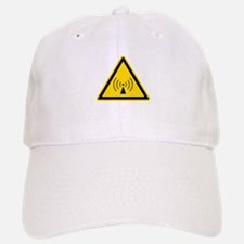 RF Warning Sign Baseball Baseball Cap