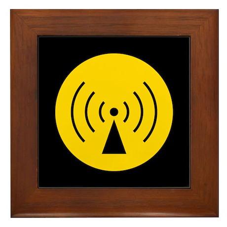 RF Warning Sign Framed Tile