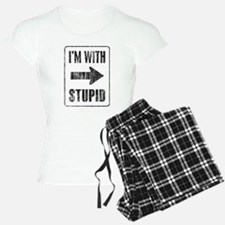 Vintage I'm With Stupid [r] Pajamas