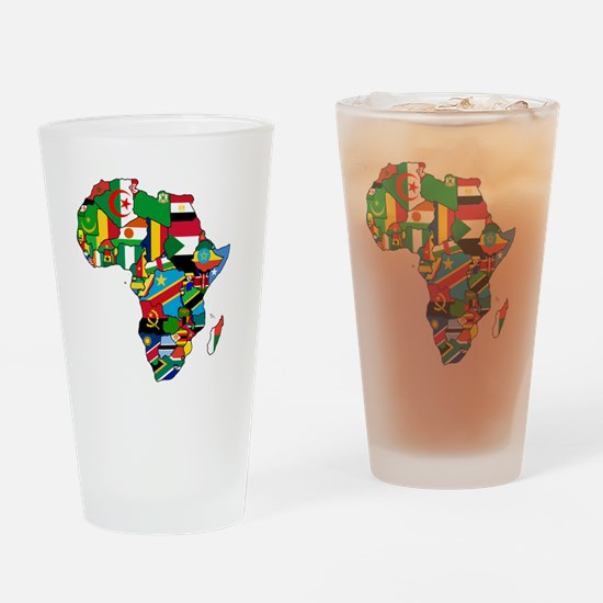 Flags of Africa Pint Glass