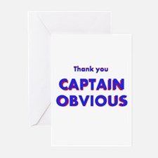 Thank you Captain Obvious Greeting Cards (Pk of 20
