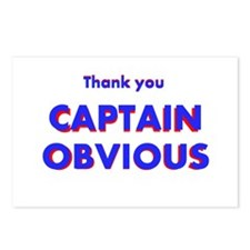 Thank you Captain Obvious Postcards (Package of 8)