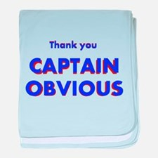 Thank you Captain Obvious baby blanket