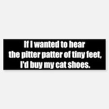 Cat Shoes (Bumper Sticker)