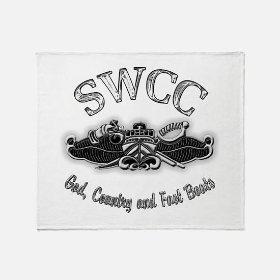 USN Navy SWCC Badge Throw Blanket