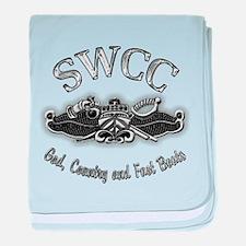 USN Navy SWCC Badge baby blanket