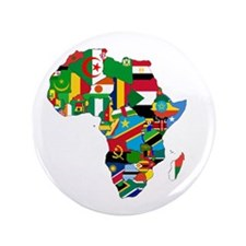 "Flags of Africa 3.5"" Button"