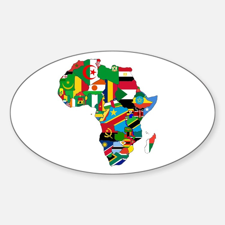 Flags of Africa Sticker (Oval)