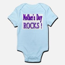 Mother's Day Rocks ! Infant Creeper