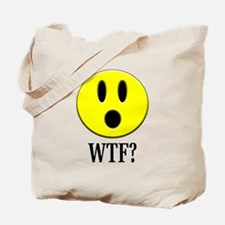 WTF? Smiley Tote Bag
