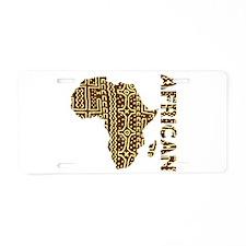 African Aluminum License Plate
