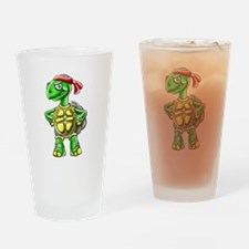Ninja Turtle Tortoise Drinking Glass