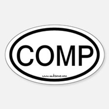 """COMP"" Sticker (Oval)"