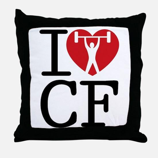 I Love CF Throw Pillow