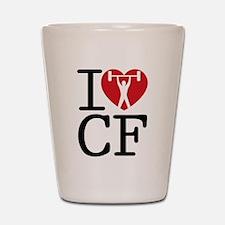 I Love CF Shot Glass