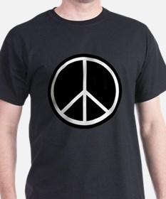 Peace Symbol Black and White T-Shirt