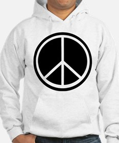 Peace Symbol Black and White Hoodie