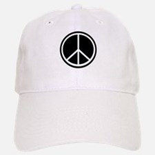 Peace Symbol Black and White Baseball Baseball Cap