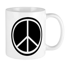 Peace Symbol Black and White Mug