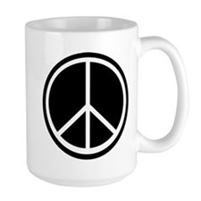 Peace Symbol Black and White Mug