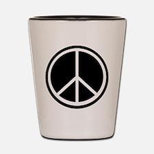 Peace Symbol Black and White Shot Glass