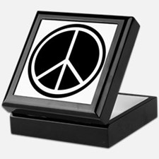 Peace Symbol Black and White Keepsake Box