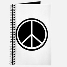 Peace Symbol Black and White Journal
