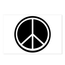 Peace Symbol Black and White Postcards (Package of
