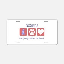 Boxer Lover Gifts Aluminum License Plate