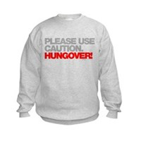 Please Use Caution. Hungover! Kids Sweatshirt