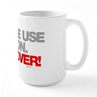Please Use Caution. Hungover! Large Mug