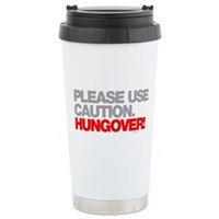 Please Use Caution. Hungover! Stainless Steel Trav