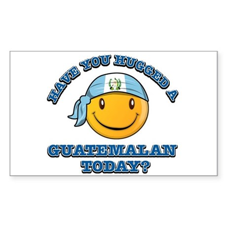 Have you hugged a Guatemalan today? Sticker (Recta