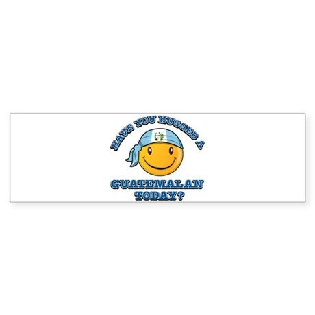 Have you hugged a Guatemalan today? Sticker (Bumpe
