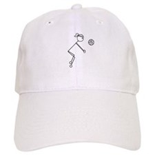 Volleyball Girl Black No Word Baseball Cap