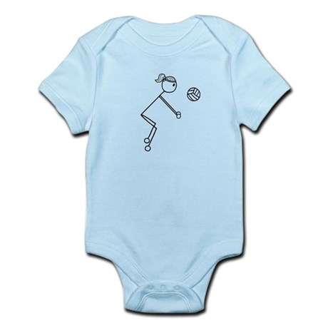 Volleyball Girl Black No Word Infant Bodysuit