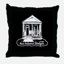 New Orleans Shotgun Throw Pillow