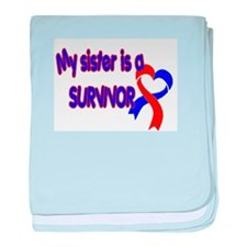 Sister CHD Survivor Shop baby blanket