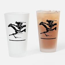 Horse Racing Pint Glass