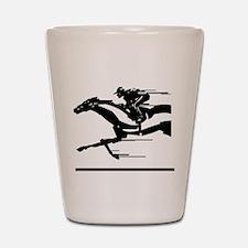 Horse Racing Shot Glass