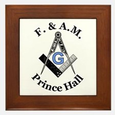 Prince Hall Square and Compass Framed Tile