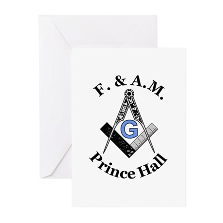 Prince Hall Square and Compass Greeting Cards (Pk