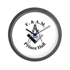 Prince Hall Square and Compass Wall Clock