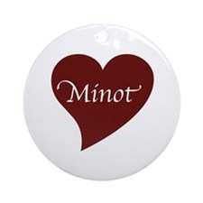 Love for Minot Ornament (Round)
