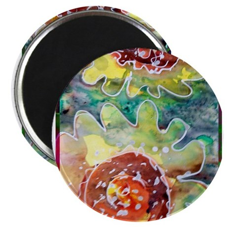 Sunflower, cheerful, art, Magnet