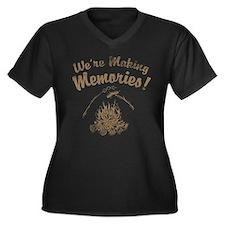 We're Making Memories! Women's Plus Size V-Neck Da