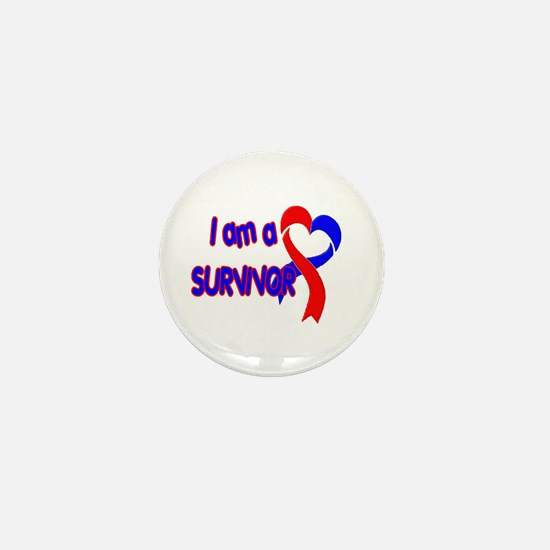 I AM A CHD SURVIVOR Mini Button